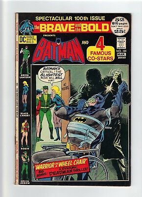 Brave and the Bold #100 (1972) Nice VF to VF+ 8.0-8.5