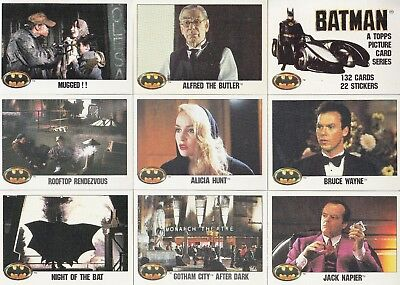 Batman The Movie Series 1 1989 Topps Complete Base Card & Sticker Set 132 + 22