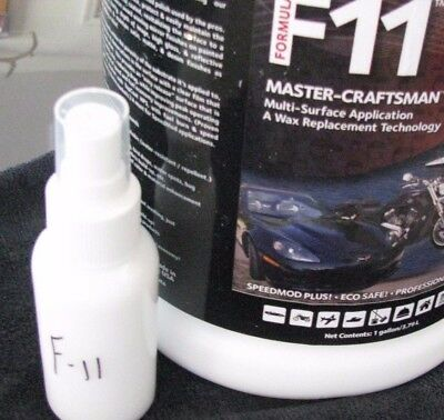F11 TOPCOAT 3.2 oz Spray Bottle TESTER WAX-SEALANT-POLISH CAR BOAT PLANE RV NEW
