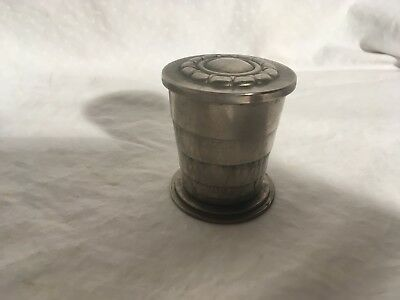 Antique Collapsable Drinking Cup WWII Silver WWII