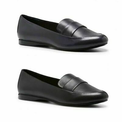 Womens Hush Puppies Winston Ladies Black Navy Casual Work Dress Flats Shoes