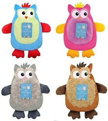 Owl Hot Water Bottle & Cover Country Club Warmers Novelty Childrens Gift 1 Li...