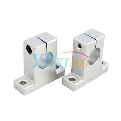 2Pcs SK8/10/12/16 Linear Rail Bearing Shaft Guide Support Bracket Clamp Alloy ES
