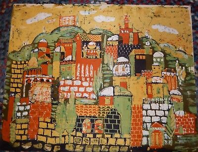 Rose Szafir  Malaysian Village Original Batik Painting