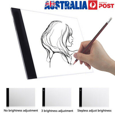 A4 USB LED Artist Thin Art Stencil Board Light Tracing Drawing Pad Table Box AU