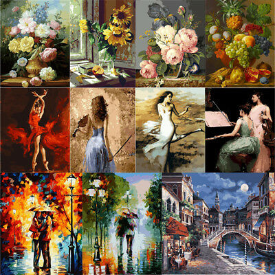 DIY Paint By Number Kit Digital Oil Painting Canvas No framed Decor 40 * 50 CM