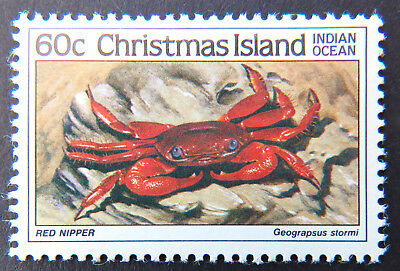 1985 Christmas Island Stamps - Crabs II -  Single 60c - Red Nipper Crab MNH