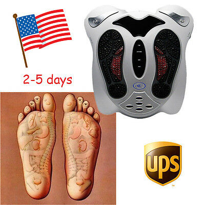 USA-NEW Electromagnetic Wave Pulse Circulation Foot Massager Reflexology Booster
