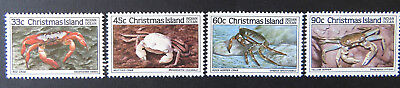 1985 Christmas Island Stamps - Crabs III - Set of 4 MNH
