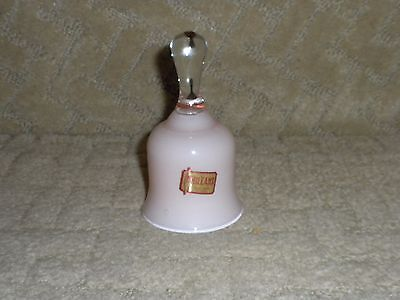 Vintage Norleans Pink Cased Glass Bell Hand Made in Italy