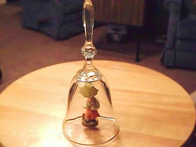 24% Lead Crystal Bell-West Germany-Clapper by Dolfi (Italy) Girl with Puppy