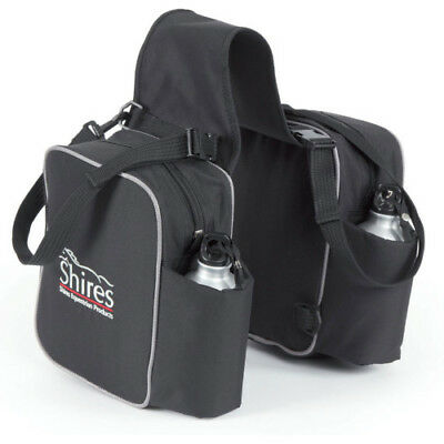 Shires Saddle Pannier Unisex Bag - Black One Size
