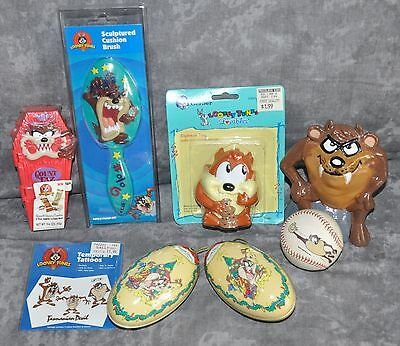 "(8) ""Taz"" Tasmanian Devil Looney Tunes 1990's Baseball Hairbrush Tattoo Etc. Lot"