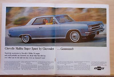 1965 double page magazine ad for Chevrolet - Chevelle Malibu Super Sport, GRRRR8