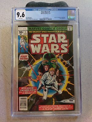 Star Wars #1, (Jul 1977, Marvel) CGC 9.6, White Pages!