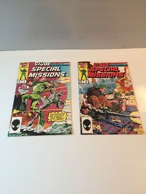 Marvel Comics G.I.Joe Special Mission 1986  #1-2 Excellant Condition