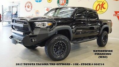 2017 Toyota Tacoma 17 TACOMA DOUBLE CAB TRD OFF ROAD 4X4,LIFTED,NAV,1 17 TACOMA DOUBLE CAB TRD OFF ROAD 4X4,LIFTED,NAV,17IN BLK WHLS,10K,WE FINANCE!!
