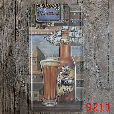 Metal Tin Sign shipyard beer Bar Pub Home Vintage Retro Poster Cafe ART