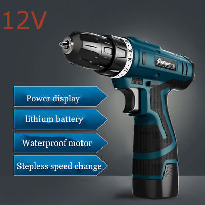 12V Screwdriver Cordless Power Tools.Screw Gun Electric Rechargeable Hand Drill