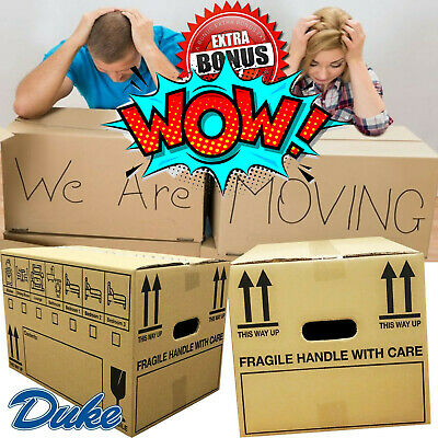 NEW X LARGE DOUBLE WALL CARDBOARD BOXES - House Removal Moving Packing Storage