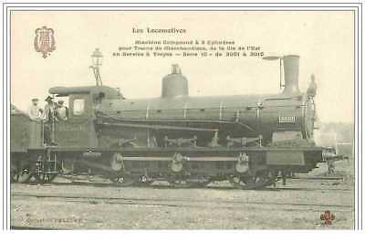 10.troyes.les Locomotives.machine Compound A 3 Cylindres Pour Trains De Marcha