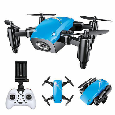 S9 blau Mini FPV Quadcopter Drohne Kamera Altitude Hold Return Home faltbar