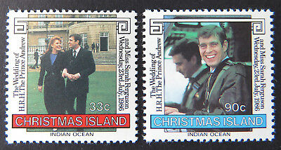 1986 Christmas Island Stamps - Royal Wedding Prince Andrew & Sarah - Set 2 MNH