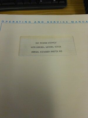 HP/Agilent 6282A DC Power Supply MPB Series - Ops and Service Manual Loc: 985