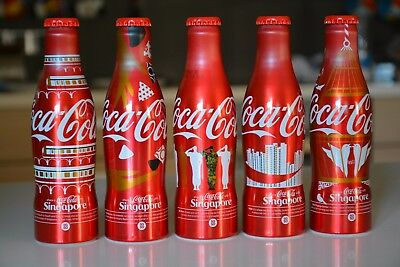 aluminium Coca Cola bottles Share-a-Coke with Singapore SG50 National Day celebr