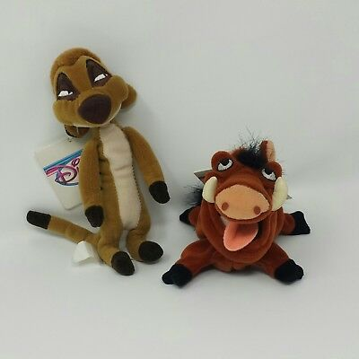 "Disney Lion King Timon and Pumbaa 8"" Beanie Plush Set"