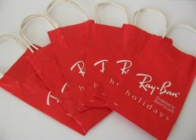 Vintage 80s B&L Bausch & Lomb Ray-Ban Sunglasses Red Holidays Gift Bags Lot of 6