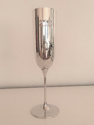 "ROBBE & BERKING Champagnerkelch ""2000"", 925 Sterling Silber - LIMITIERTE EDITION"