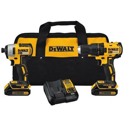BRAND NEW DeWalt DCK277C2 20V MAX Compact Brushless Drill and Impact Combo Kit