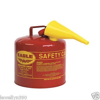 5 Gallon EAGLE SAFETY GAS CAN Meets OSHA & NFPA code 30 Requirements NEW!!
