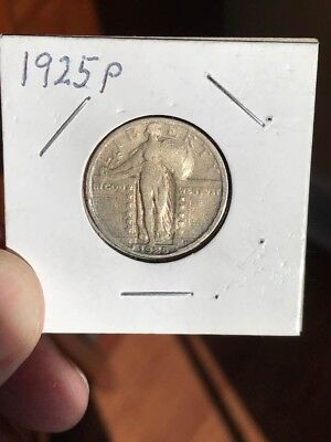 2- Standing Liberty Quarters 1925 p and 1928 d Very nice!!!