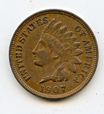 1907 INDIAN CENT ~ EXTRA FINE  ~   *hucky*