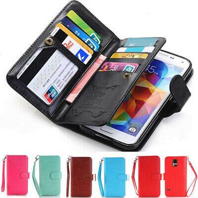 For Samsung Galaxy Note 8 S7 8 9 Plus Case Cover Card Wallet Flip Leather Stand