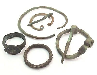 Viking ancient artifacts rings broochs bracelet 6-10 century AD