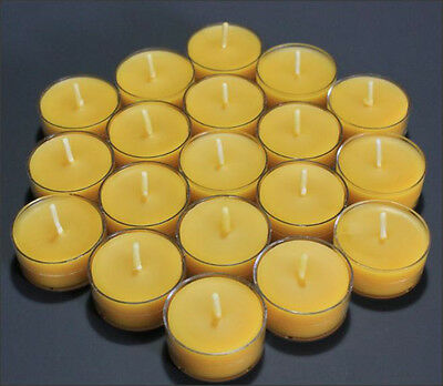 60 Beautiful 100% Beeswax Tealight Candle No Additives