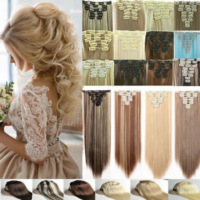 Clip In Hair feels like Remy Real Human Hair Extensions Full Head Double Wefted