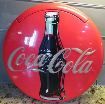Vintage Coca-Cola Coke Red Round Disc Telephone, PHONE DOES WORK