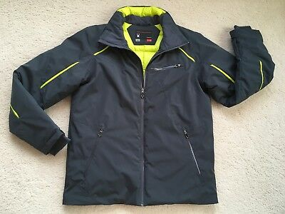 Mens Spyder Down Fill Jacket  In Grey And Yellow Size Large New W/o Tags Nice!