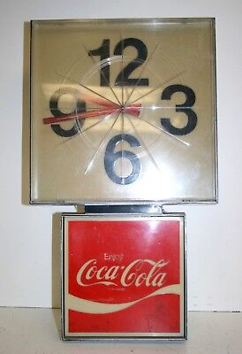 Listed  Electric sign Vintage Coca Cola Wall Clock Tested/ Works