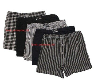 3/ 6/12 Mens Printed Cotton Check Jersey Boxer Shorts in Big Sizes Small to 6XL