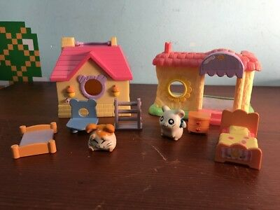 Hamtaro Ham Ham Play House Bed Room Hamster Figure Chair Epoch Toy Cottage Accs