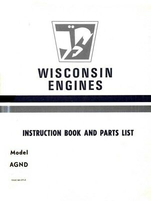 Wisconsin AGND Air Cool Heavy Duty Engine Operators Service Parts Manual