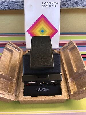 Polaroid Sx 70 Land Camera Alpha 1 Model 2 In Box Fully Working Excellent!