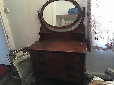 Antique Victorian Dressing Table/Chest Of Draws. Buyer Must Collect