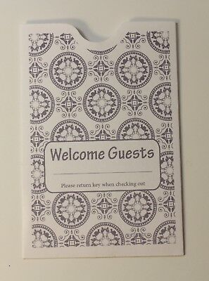 """Hotel Keycard Envelope/ Sleeve """" Welcome Guests"""" Gray 2-3/8"""" x 3-1/2"""" 5000/Box"""