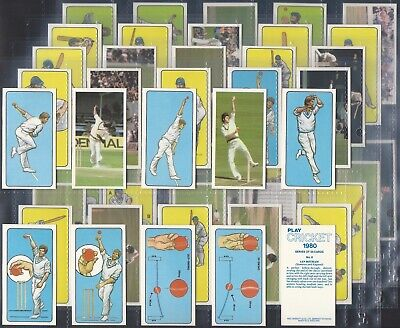 Bassett-Full Set- Play Cricket 1980 (50 Cards) - Exc+++